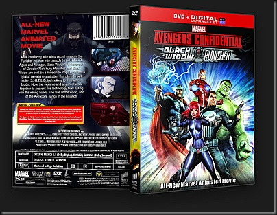 Avengers Confidential Black Widow and Punisher (2014) DVD Cover